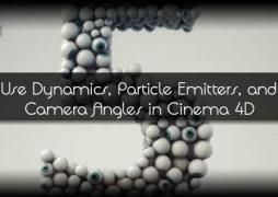Как использовать динамику, эмиттеры частиц и разные углы камер в Cinema 4D. Часть 2
