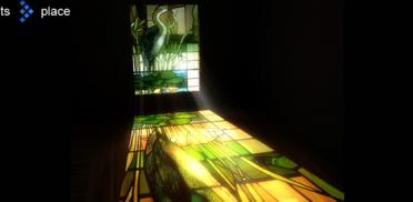 Создания отражения текстуры на полу