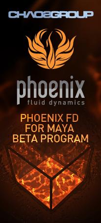 Бета версия Phoenix FD для Maya