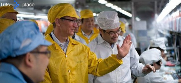 Яблоко повышает зарплату на заводах Foxconn