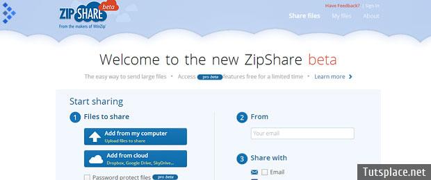 облачный файлообменный сервис ZipShare