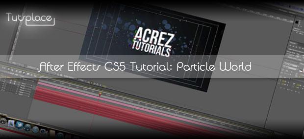 Как создать интро в After Effects с применением CC Particle World