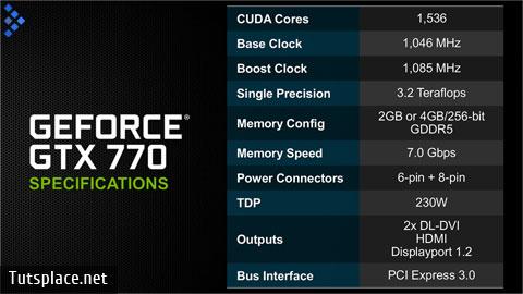 NVIDIA GeForce GTX 770 характеристики
