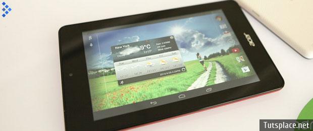 планшеты Iconia Tab 7 и Iconia One 7