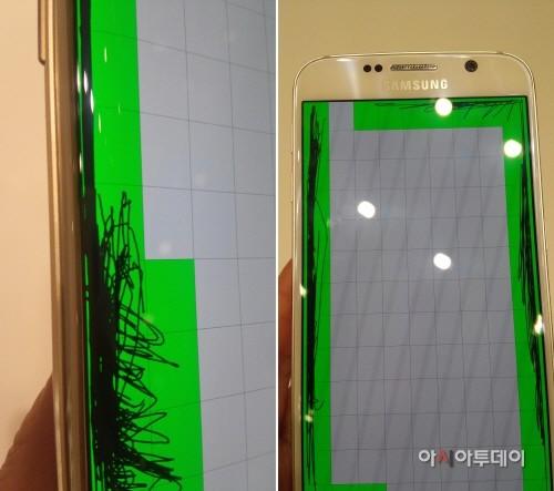 Samsung Galaxy S6 дефект дисплея
