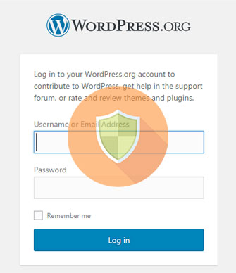 траница входа в WordPress