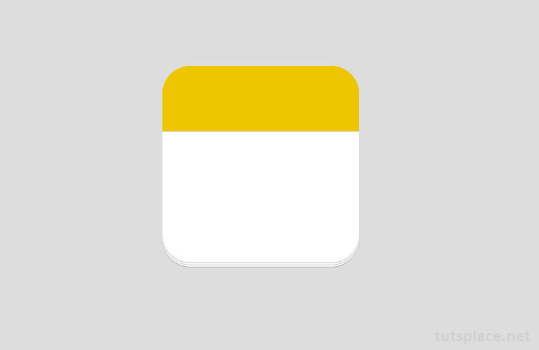 Иконка календаря -  шаг 5